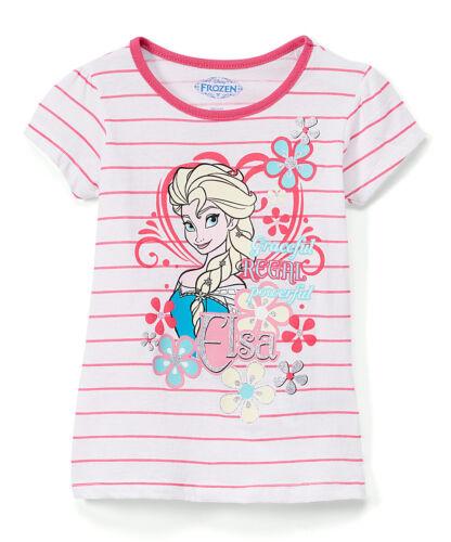 Disney Tee Shirt Frozen Toddler and Girls Elsa Anna Olaf Short Sleeve 2T 8//10