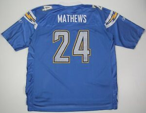 Image is loading REEBOK-NFL-Authentic-Equipment-Football-Jersey-MATHEWS- CHARGERS- e8b8039ab