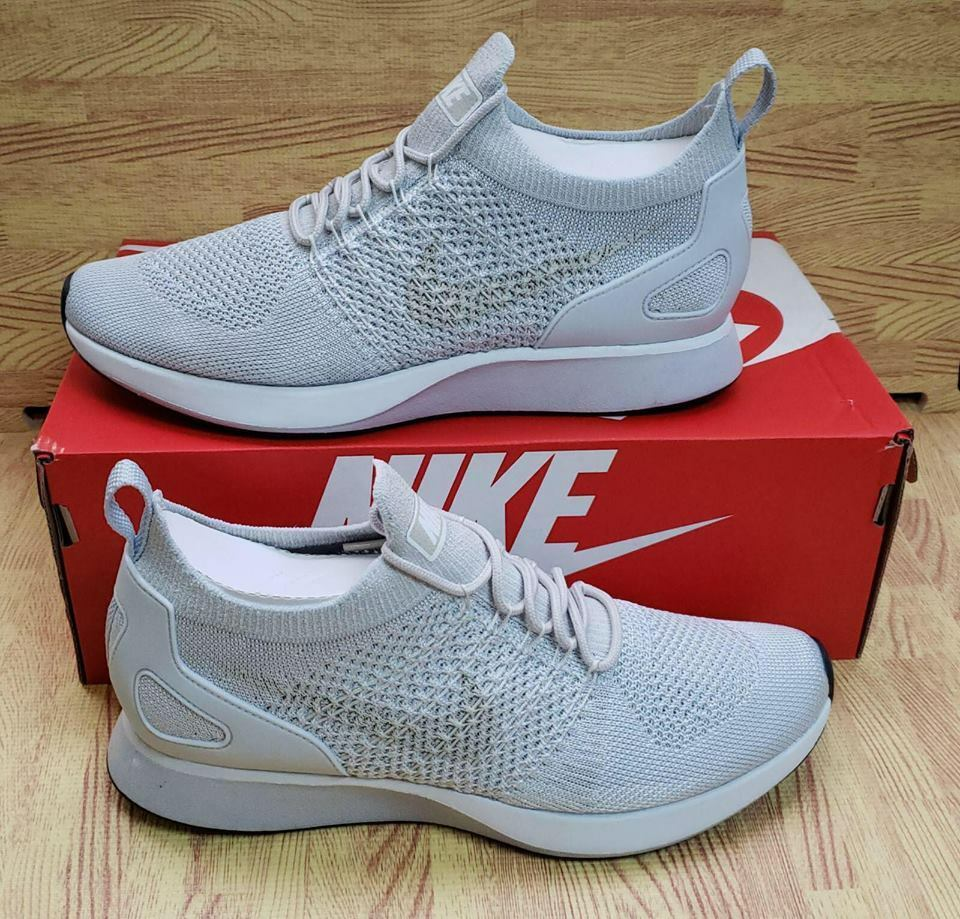 Mens Nike Air Zoom Mariah Flyknit Racer 918264-011 Pure Platinum NEW Size 9.5