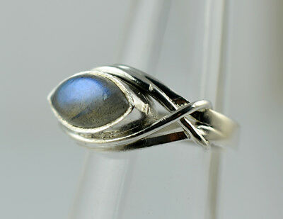 925 Sterling Silver Silver Ring Size 3-13 US Labradorite Silver Ring Blue Fire Labradorite Silver Ring Handmade Jewelry