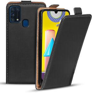 Flip-Cover-fuer-Samsung-Galaxy-M31-Huelle-Klapp-Huelle-Handy-Schutz-Tasche-Case