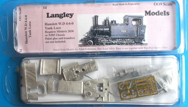 Hunslet W4D 460 tank loco OO OO9 Scale UNPAINTED Railway Kit I4 Langley Models