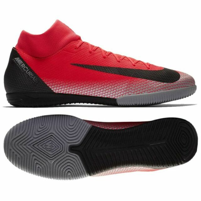 newest collection 07a87 9e6ea Nike Mercurial Superfly VI Academy CR7 IC Indoor Soccer Shoes  Crimson-Black-Grey