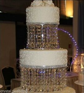 Crystal Wedding Cake Stand 3 Crystal Designs Sizes 6 16 Round