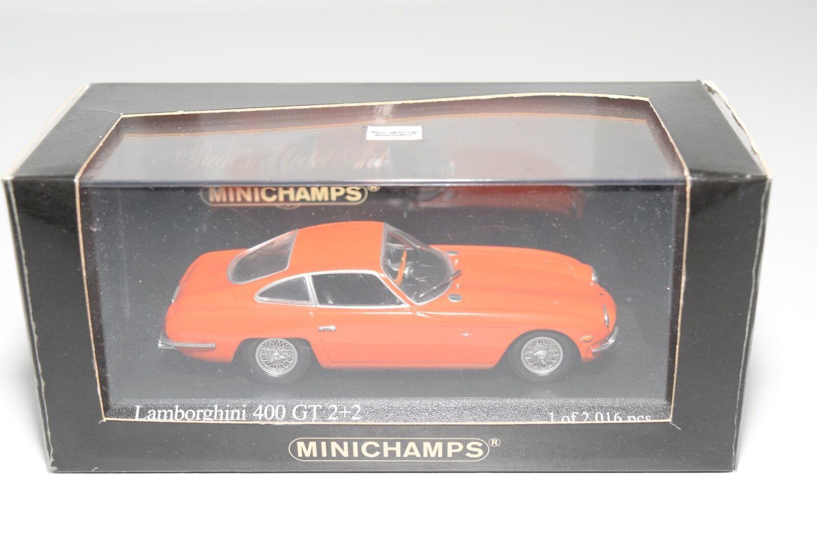 . MINICHAMPS LAMBORGHINI 400 GT 400GT 2+2 1964 orange MINT BOXED