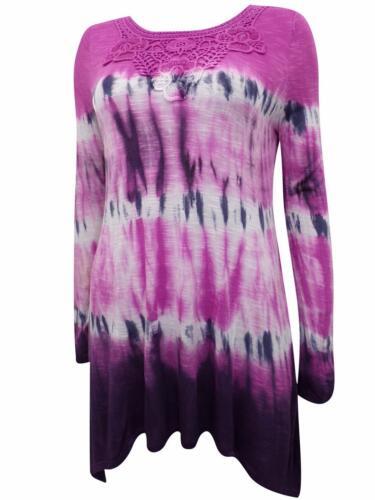 Magnifique GLORIA VANDERBILT rose Tie Dye Hippie Style Boho Femme Taille S M XL *