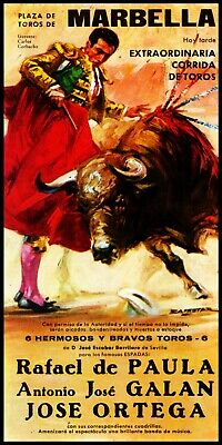 "Plaza De Toros De Madrid #9 Canvas Art Poster 12/""x 24/"" Bullfighting"