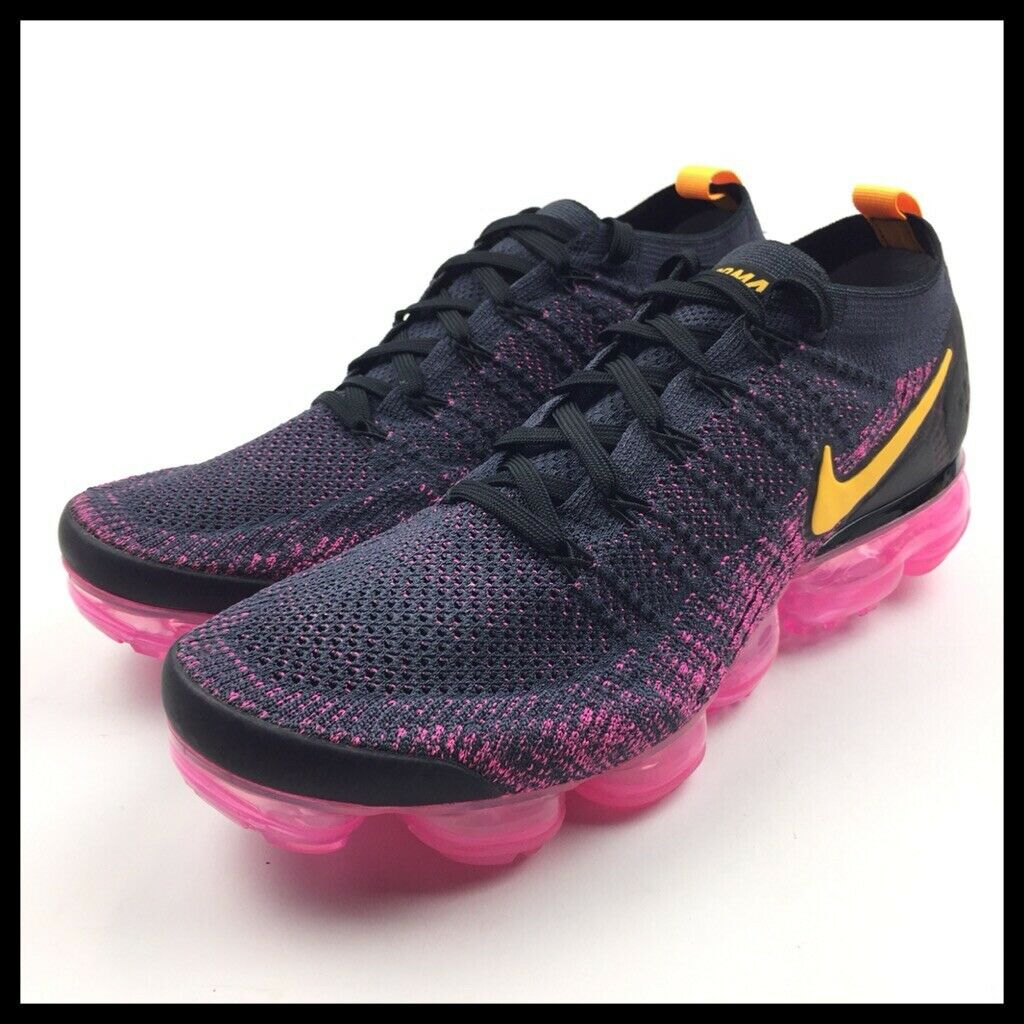 Nike Air Vapormax Flyknit 2 Mens Size 11 Running shoes Black Pink 942842-008 New