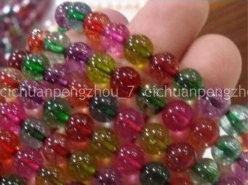 """Natural 6mm Multicolor Turmalina Cuentas Sueltas Redondo 15/"""" AAA a la venta al por mayor"""