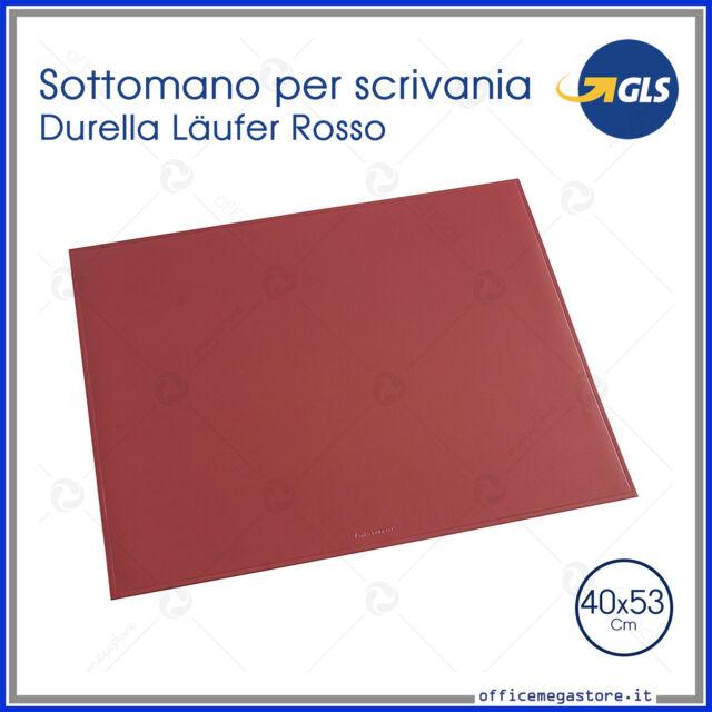 Sottomano Durella colore rosso elegante gomma flessibile da scrivania cm 40x53