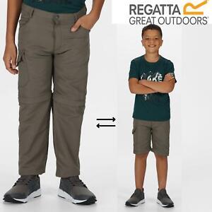 Regatta Kids Sorcer II Zip Off Convertible Trousers Boys Girls