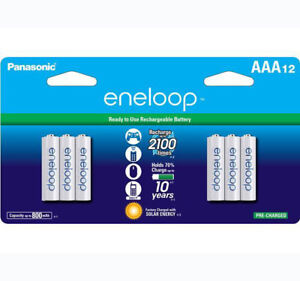 Panasonic-Eneloop-AAA-12-Pack-Rechargeable-Batteries-up-to-2100-Charges-NEW