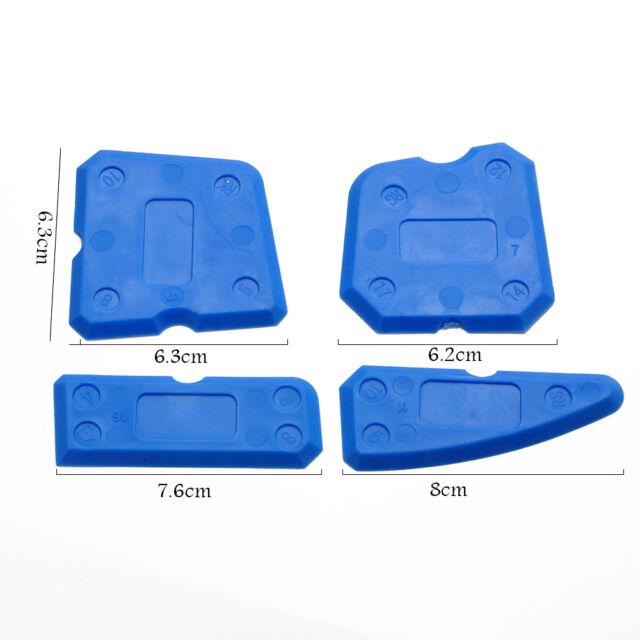4pcs Caulking Tool Kit Joint Sealant Edge Remover Scraper Blue Hand Tools //ND