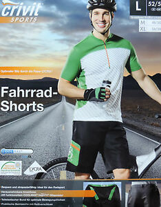 herren fahrradhose m l xl fahrradshorts bikeshorts radhose kurz mountainbike neu ebay. Black Bedroom Furniture Sets. Home Design Ideas