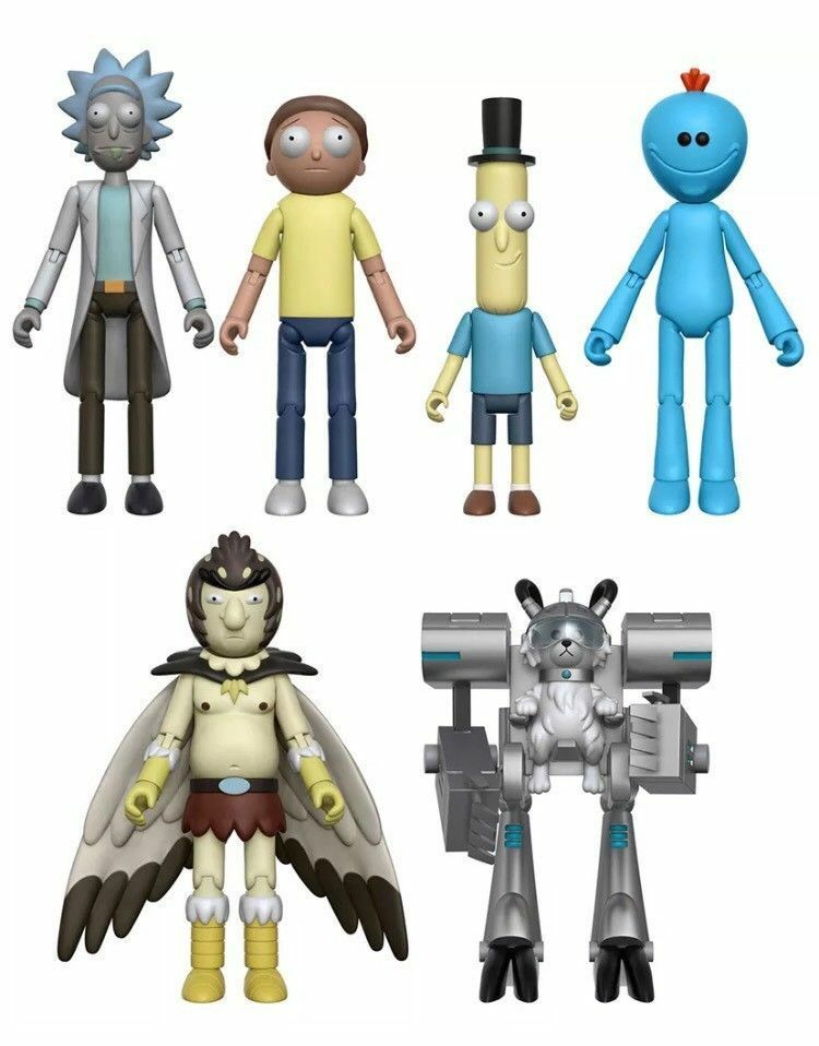 Rick and Morty serie 1 Snowball Build-a-Figure 5  SET OF 5 New & Unopened