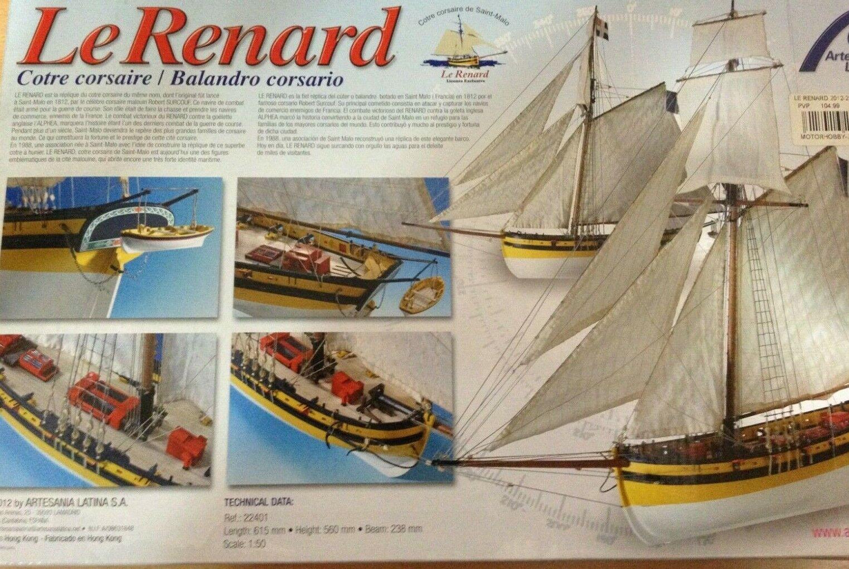 Artesania Latina Le Renard(Balandro Corsario),Ref.22401,Escala 1 50