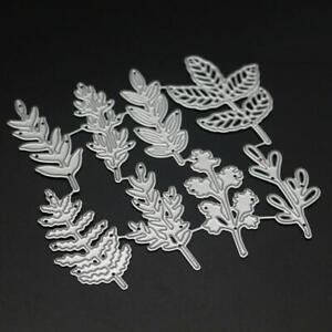 8-X-Leaf-Leaves-For-Flowers-Metal-Cutting-Dies-Embossing-Stencil-Card-Craft-Die