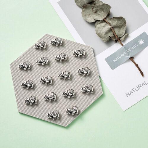 20 pcs Argent Antique Sans Plomb Tibétain Style Alliage éléphant Perles 8.5x12x4mm