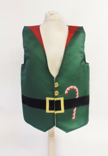 Funny Xmas Waistcoat Green Elf Fun Fancy Dress Novelty Gift Idea Party