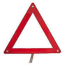 Car travel breakdown emergency red triangle warning europe EU folding roadside