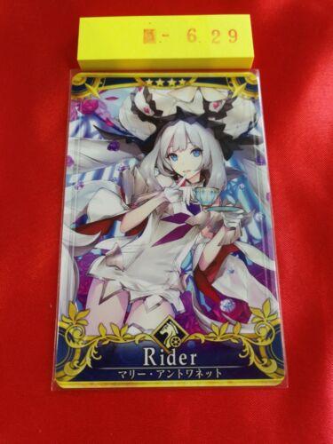 FGO Fate grand order arcade type moon Japan TCG Rider Marie Antoinette 629 card