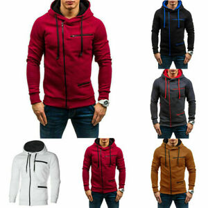 Men-039-s-Hoodie-Hooded-Coat-Jacket-Outwear-Jumper-Winter-Sweater-Sweatshirt-Warm