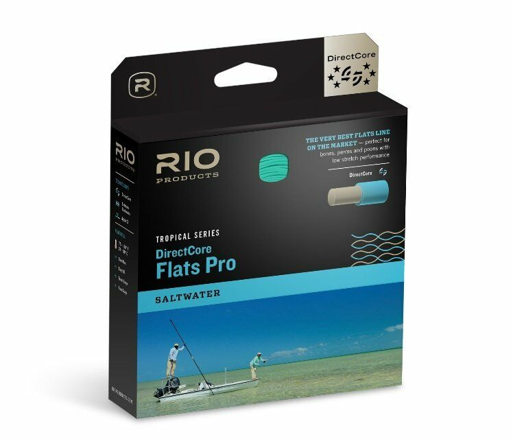 RIO DIRECTCORE FLATS PRO SALTWATER WF-9-F WEIGHT FLY LINE IN AQUA ORG SAND