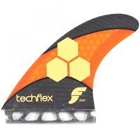 Futures AM2 Techflex Large Thruster Surfboard Fins in Orange - Al Merrick/CI