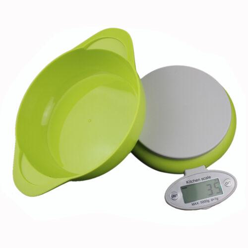 Küchenwaage Digitale Haushaltswaage 5KG mit Schüssel Waage Küche Neu