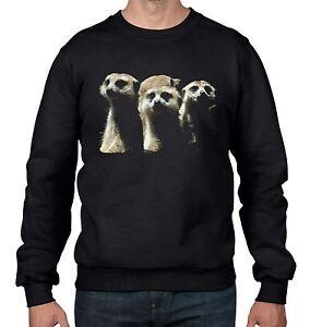 Meerkats-Animal-Men-039-s-Sweatshirt-Jumper-Cute-Meerkat-Gift-Present