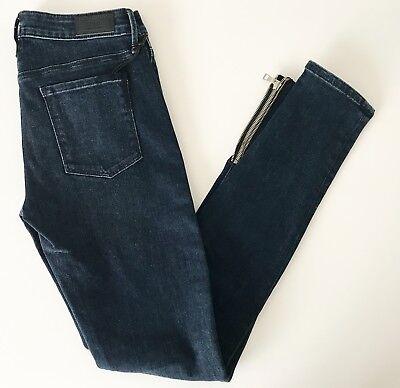 RtA Alexa Skinny Jean w// Ankle Zip Dark Worthy Wash 23 24 25 26 27 NWT $275