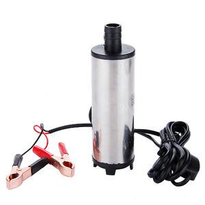 Pompe de transfert submersible carburant eau huile Gasoil 30L/min 12 V