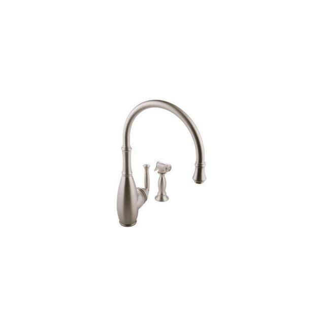 New Graff G-4805-SN Duxbury Kitchen Faucet With Side Spray Steelnox Satin  Nickel