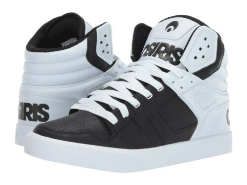 MENS OSIRIS CLONE SKATEBOARDING SHOES NIB BLACK WHITE DIP