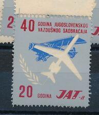 84853) Luftpost Vignette Air Mail label, Jugoslawien 20 Jahre JAT