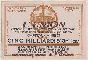 Buvard ASSURANCE L'UNION XHItwzcA-09114038-327909579