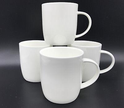 "6 Plain Simply White Fine Bone China /""Groovy/"" Mugs"