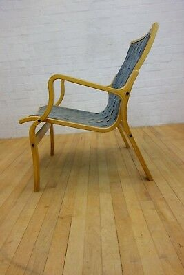 1970's Bentwood Lounge Chair By Skippers Mobler Danish Moderate Price