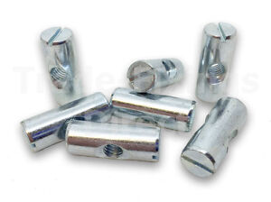 Details about M6 x 25mm Cross Dowel/Barrel Nut Slotted Zinc Plated Cot  Bolts IKEA Fixings