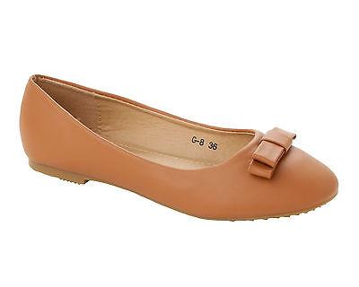 Para Mujeres Arco Ballet Bombas Escuela Oficina Plana Dolly Zapatos señoras UK Size 3-8