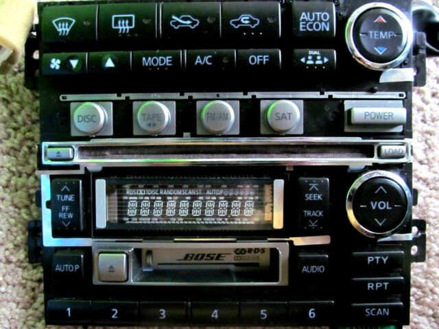 Bose Car Audio 6 Cd Casette Face Platetc 20947 Calsonic Kansei Ebay