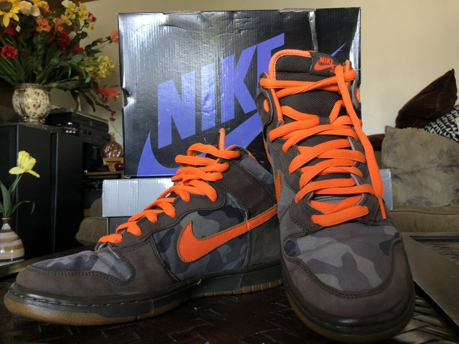NIKE DUNK HIGH PRO SB BRIAN ANDERSON 10 CAMO OLIVE GREEN orange 2006 305050-281