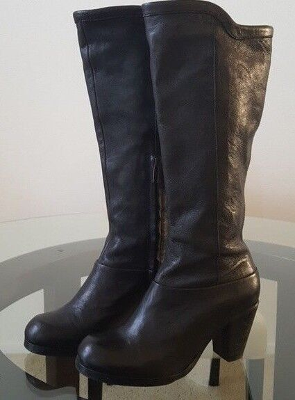 presa di fabbrica  398 All All All Saints 16  Tall Calf Knee avvio Inner Side Zip nero Leather 38 US7.5 VN  prendi l'ultimo