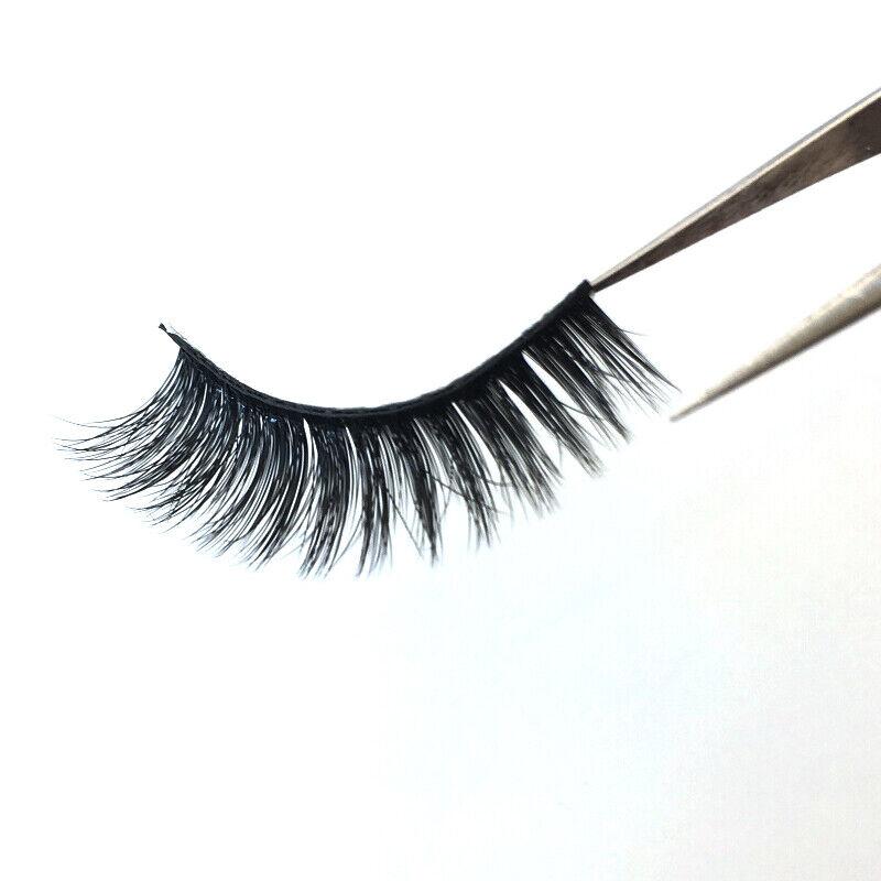 7 Pairs 25mm 6D Mink Hair False Long Thick Eyelashes Wispy Fluffy Lashes Set UK 7