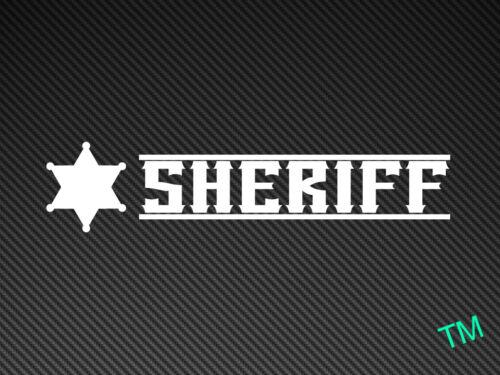 SHERIFF Sticker Decal Drift Nissan BMW JDM Dub Show Stance Rat, POLICE COPS