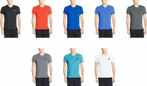 adidas-Men-039-s-Training-Ultimate-Short-Sleeve-V-Neck-Tee-8-Colors