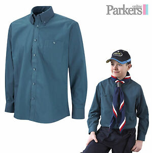 BRAND-NEW-OFFICIAL-SCOUTS-SCOUT-UNIFORM-LONG-SLEEVED-SHIRT-SIZES-XS-SMALL-MEDIUM