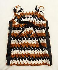 Marni Rust, Black and White Wave Print Reversible Cotton Tunic Top