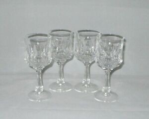 Nachtmann-Andrea-Cut-Crystal-Wine-Glasses-Goblets-Set-of-4