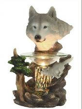 Wolf Head Wax Tart Scented Oil Candle Warmer Electric Polyresin
